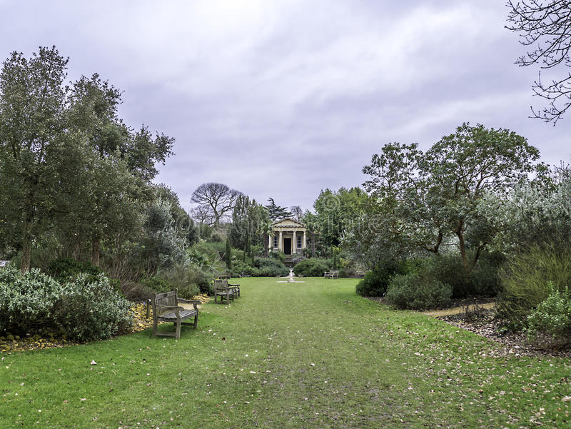 Rey Williams Temple Kew Gardens Winter foto de archivo
