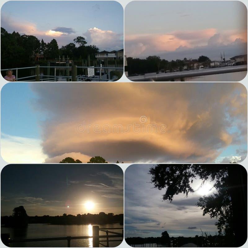 Reyes Bay Park, Crystal River Florida Sunsets-1 foto de archivo libre de regalías