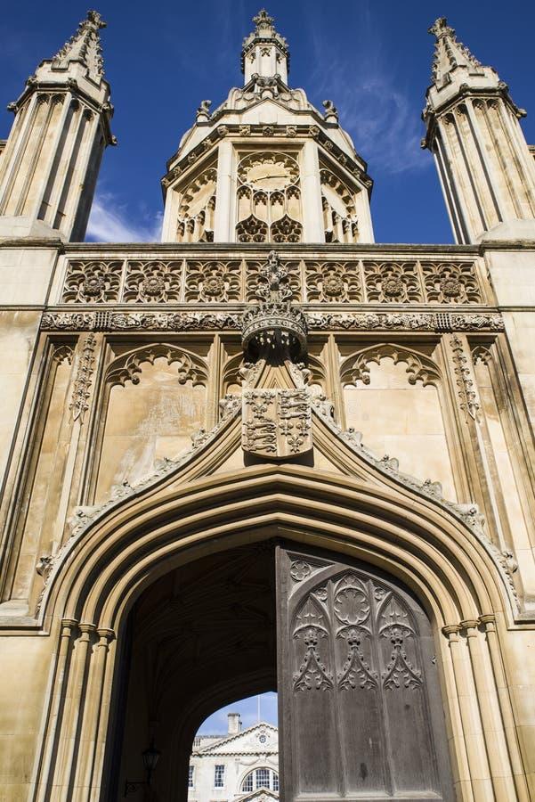 Reyes College Gate House en Cambridge imagenes de archivo