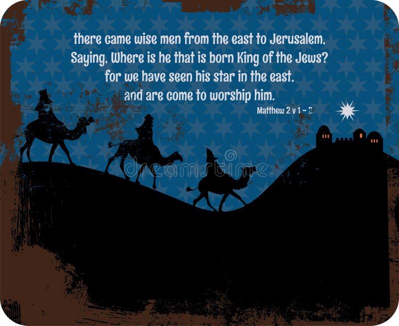 Reyes Sign de la Navidad ilustración del vector