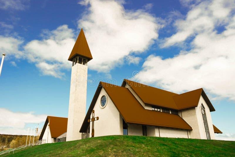 Reykholt church stock photography