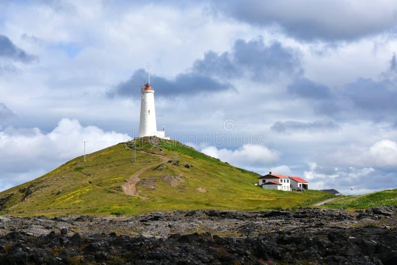 Reykjanes latarnia morska obrazy stock