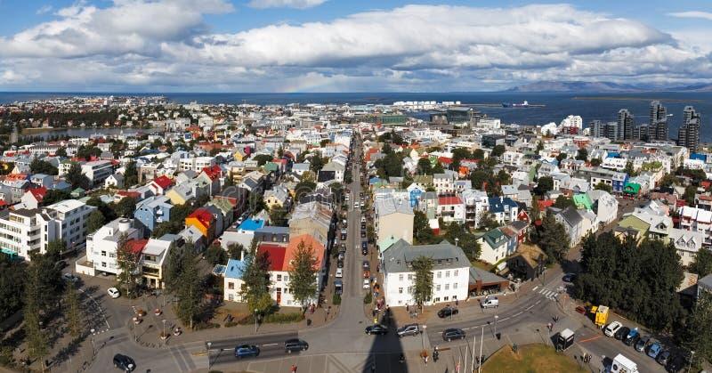 Reykjavik Aerial View, Iceland stock photos