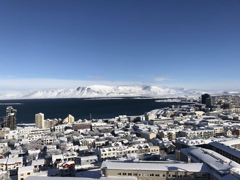 Reykjavik bianco immagini stock