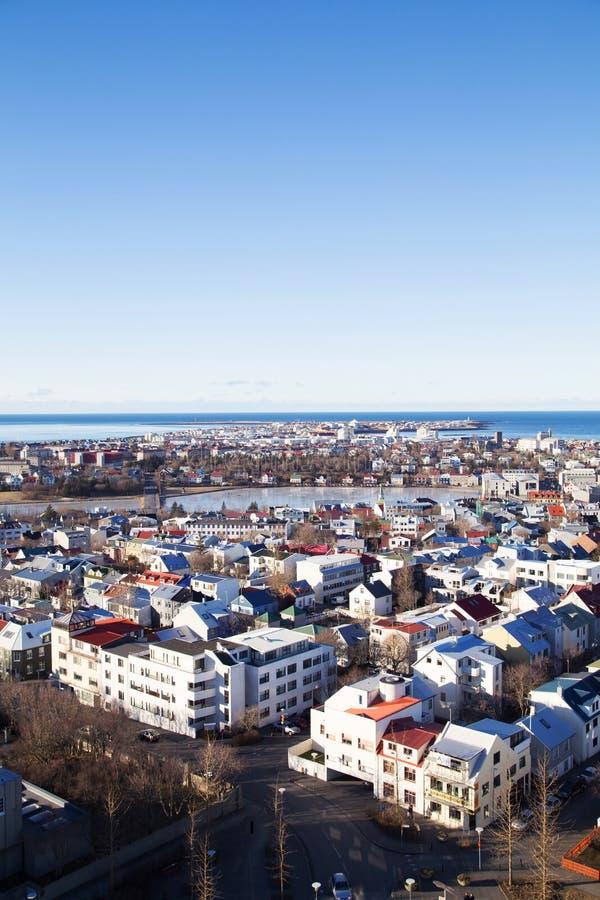 Reykjavik céntrico foto de archivo libre de regalías