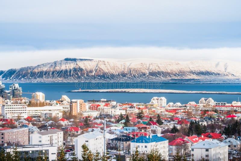 Reykjavik the capital city of Iceland stock image