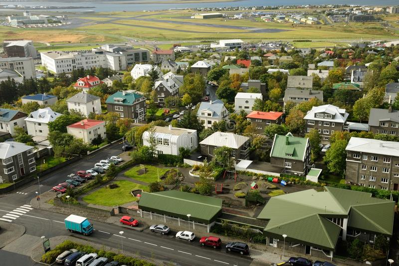 REYKJAVIK capital of Iceland royalty free stock photography