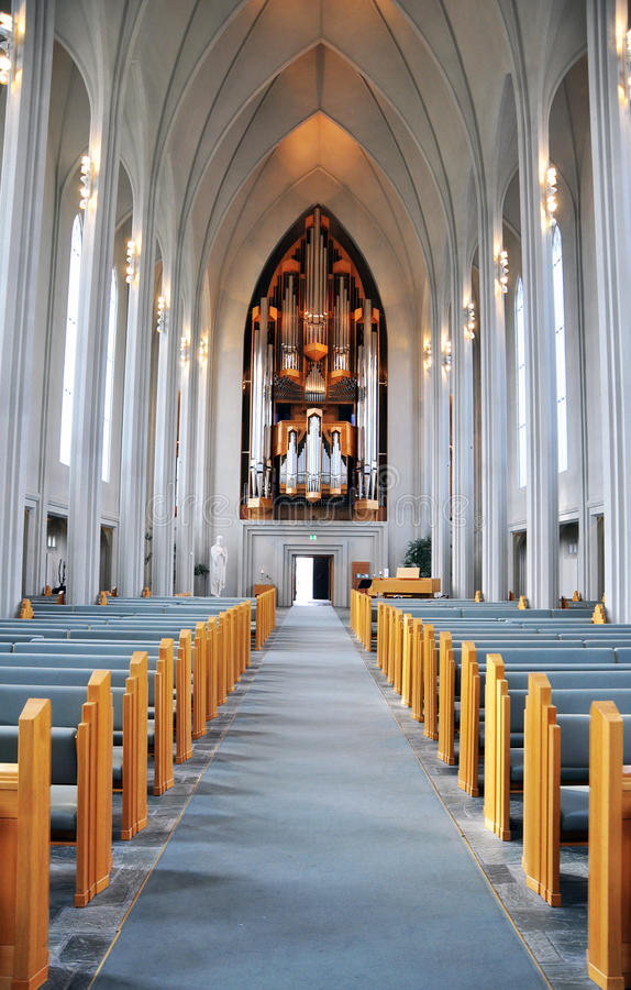 Download Reykjavik Church interior stock photo. Image of concrete - 31720930