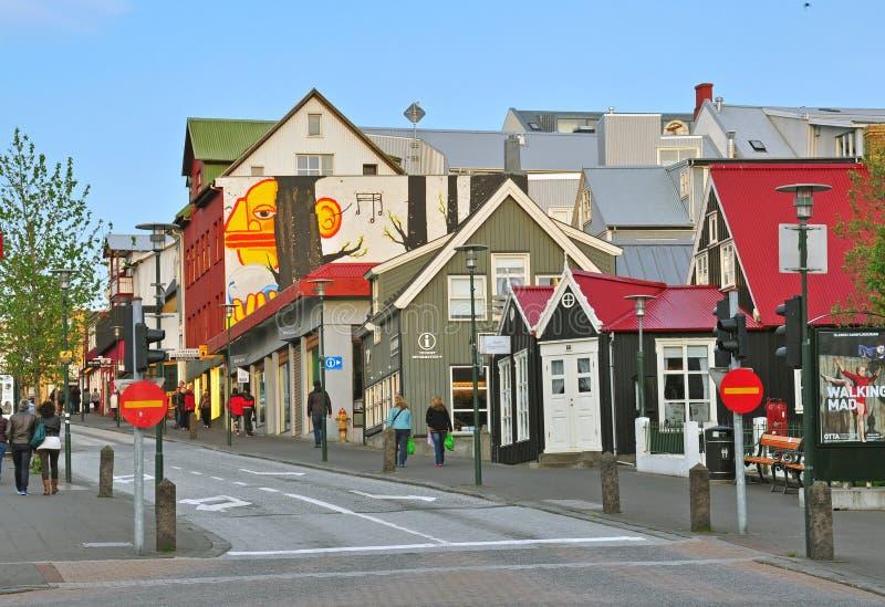 Download Reykjavik downtown editorial stock image. Image of pattern - 37346699