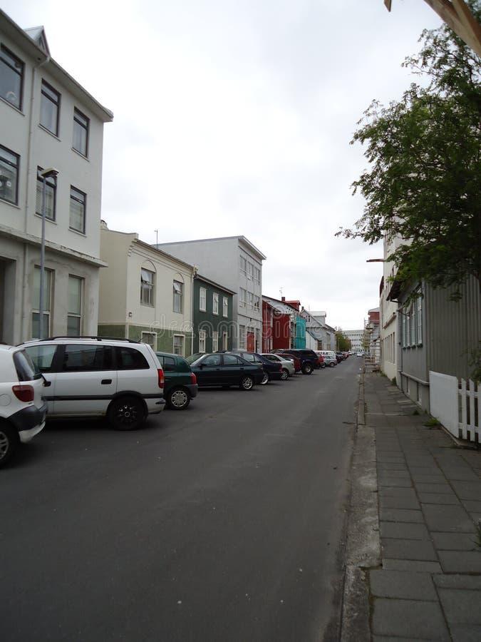 Reykjavik gata royaltyfria foton