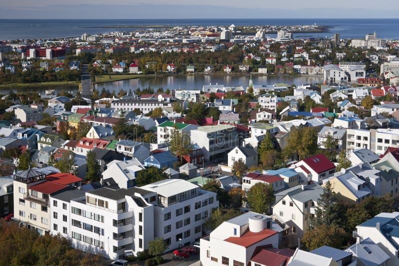 Reykjavik i Island arkivfoton