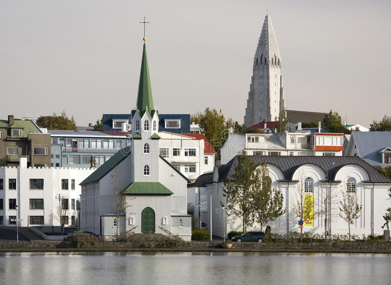 Reykjavik in Iceland royalty free stock photography