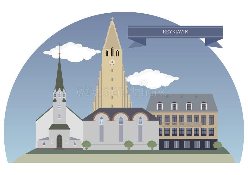 Reykjavik, Iceland. Reykjavik, capital and largest city of Iceland royalty free illustration