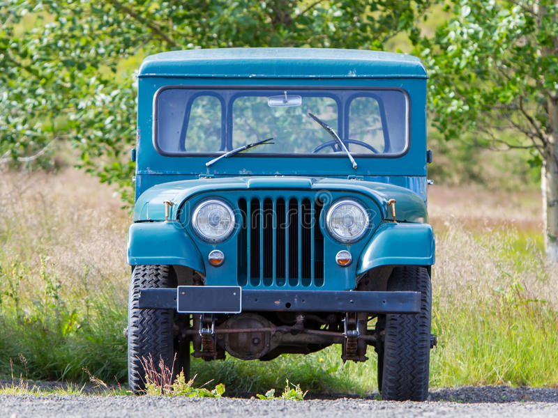 REYKJAVIK, ICELAND - July 29, 2016: Selective focus on an abandoned Willys Jeep on Iceland. Willys Jeeps were made by stock images