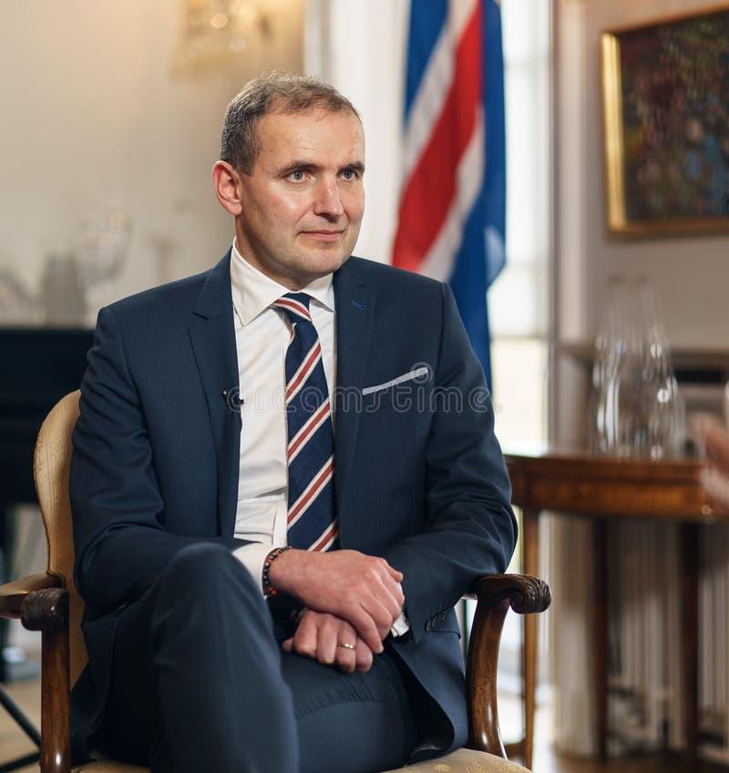 REYKJAVIK,ICELAND/OCTOBER 31,2017: President of Iceland Gudni Jo stock photos