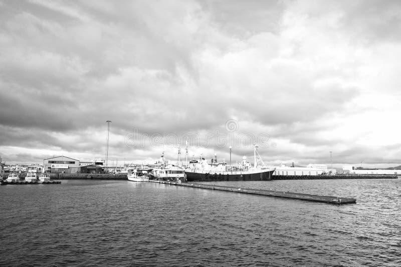 Reykjavik, Islande - 13 octobre 2017 : voyage par bateau des vacances d'été En cas de doute, partez en vacances Un grand bateau images libres de droits