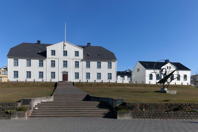 Reykjavik Junior College byggnad i Reykjavik, Island arkivbild