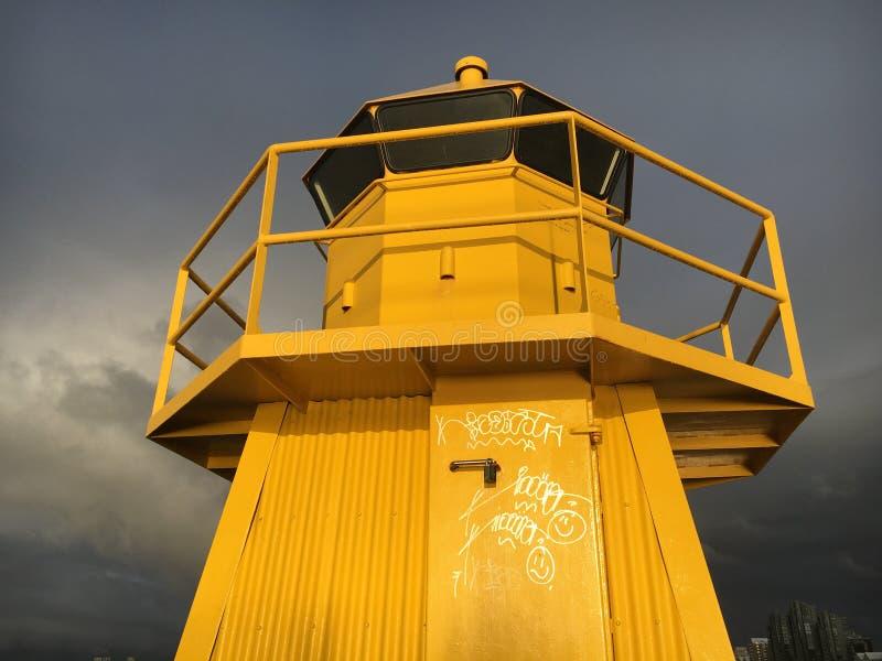 Reykjavik-Leuchtturm lizenzfreie stockbilder