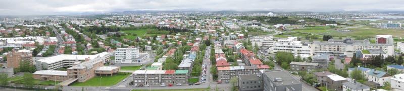 Reykjavik-Panorama stockfotos