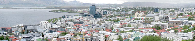 Reykjavik panorama royalty free stock photos