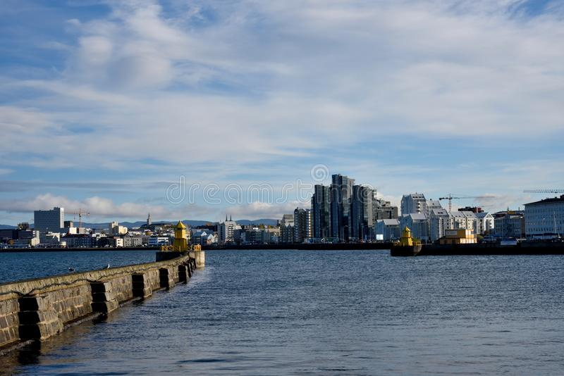 Reykjavik sea port. stock images
