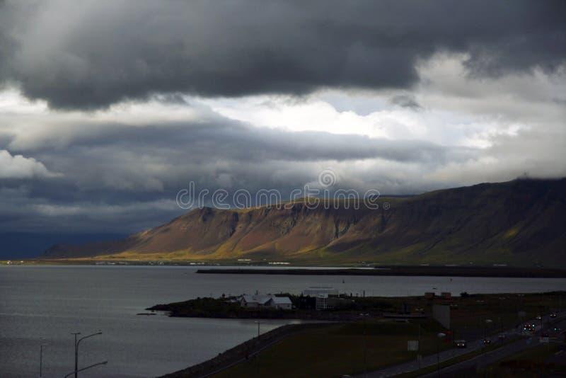 Reykjavik seaside, Iceland stock photo