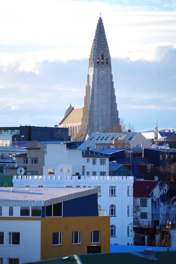 Reykjavik stad royaltyfria bilder