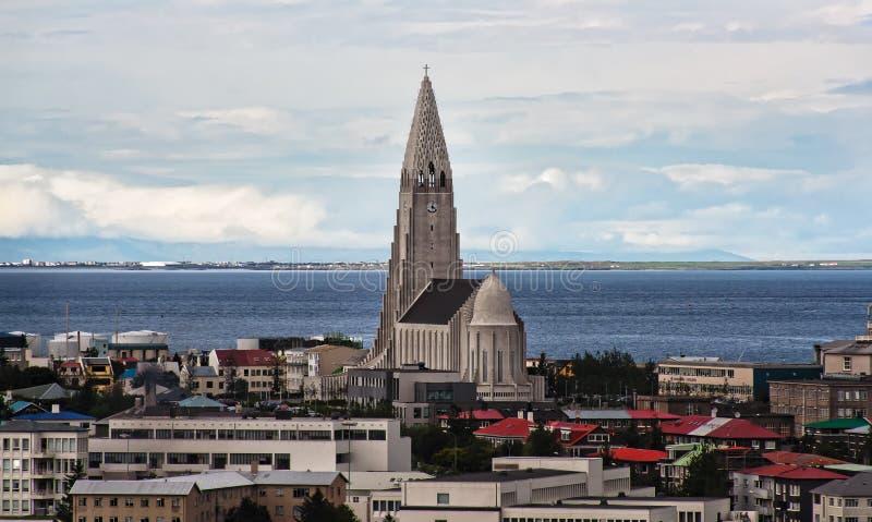 Reykjavik-Stadtansicht, Island stockbilder