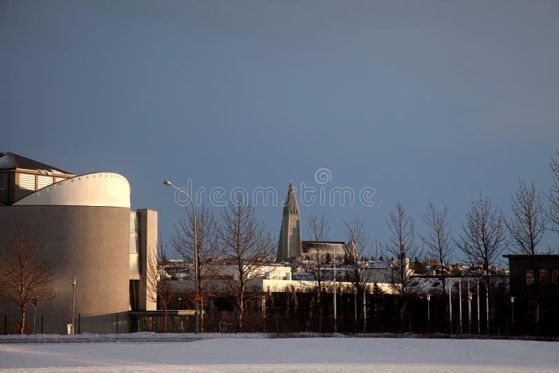 Reykjavik-Stadtzentrum stockbilder
