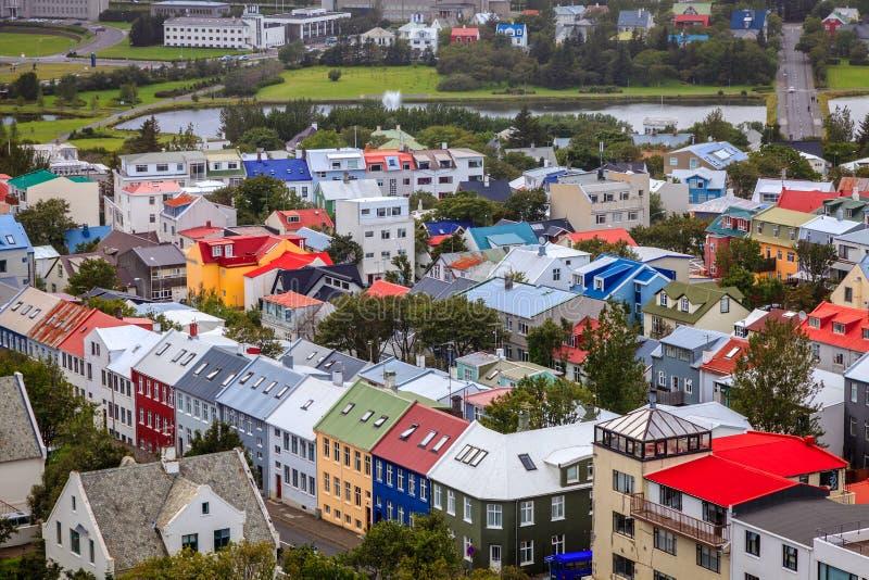 Reykjavik tak arkivbilder