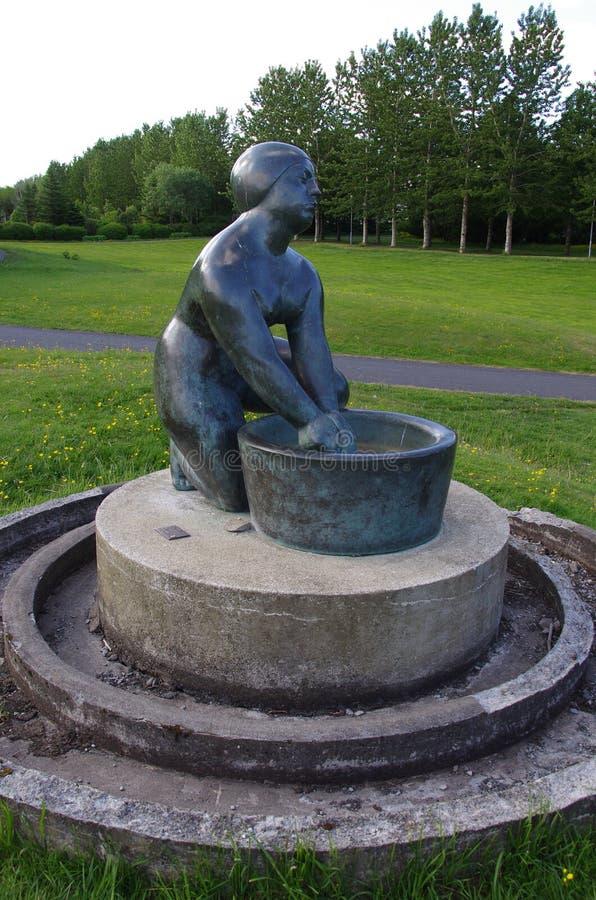Reykjavik Washer Woman Statue Royalty Free Stock Photo