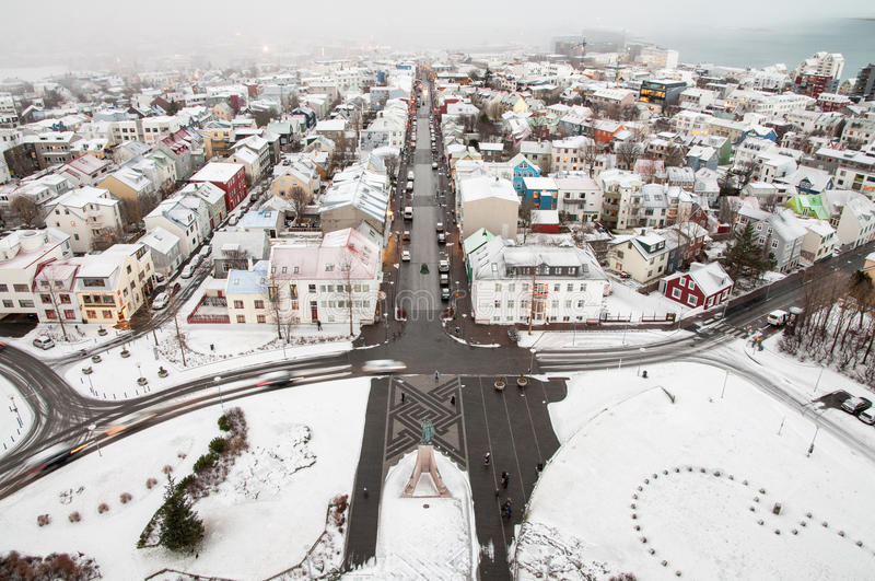 Download Reykjavik In A Winter Time Stock Photo - Image: 83713099