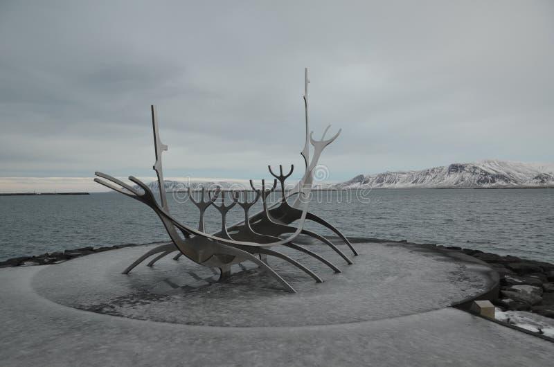 Reykjaviks偶象北欧海盗船 免版税库存图片