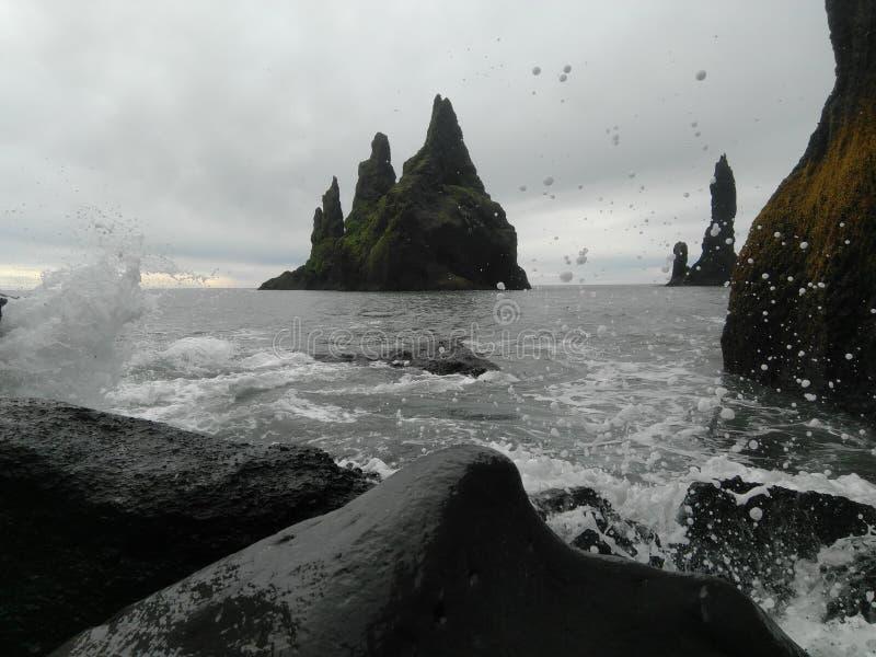Reynisdrangar. From the stones, islandia royalty free stock photography