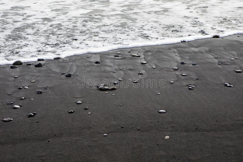 Reynisfjara海滩在冰岛 图库摄影