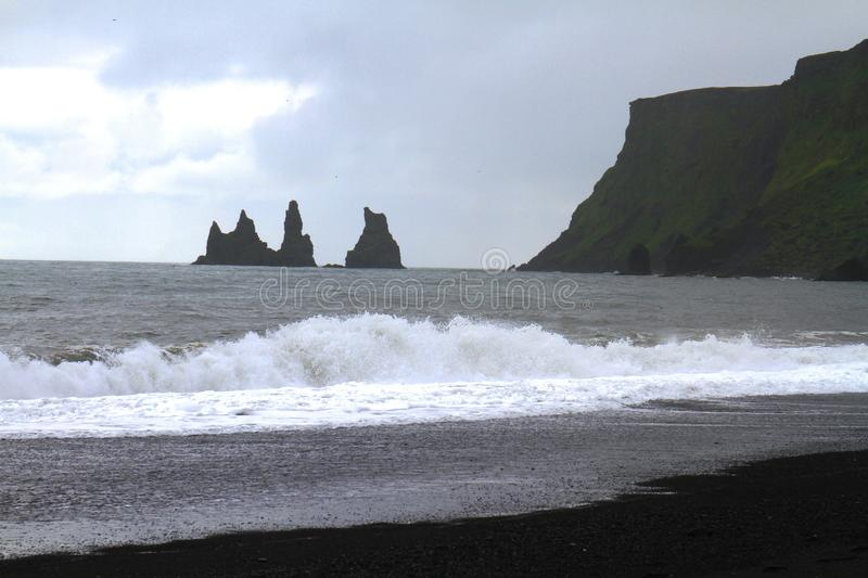 Reynisfjara beach near Vik, Iceland stock photos