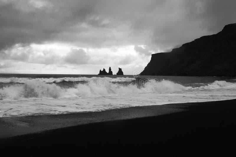 Reynisfjara beach near Vik, Iceland stock image
