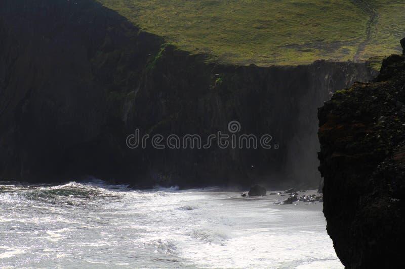 Reynisfjara beach near Vik, Iceland stock photo