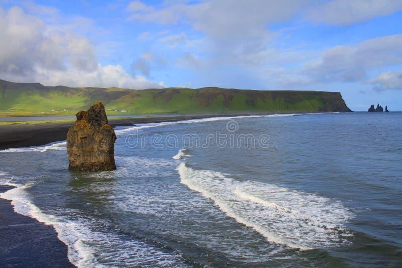 Reynisfjara beach near Vik, Iceland royalty free stock image