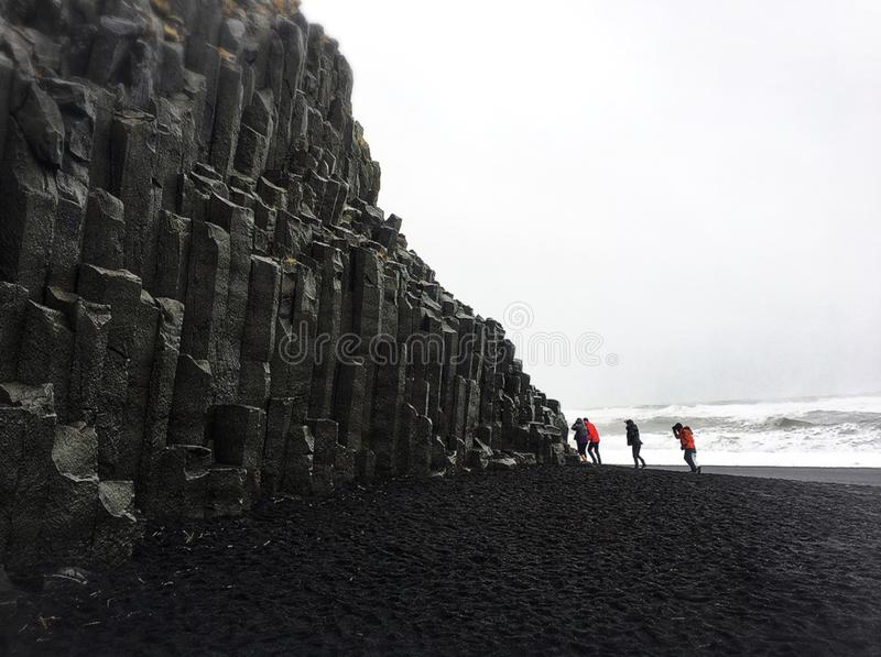 Reynisfjara, Islândia fotos de stock royalty free