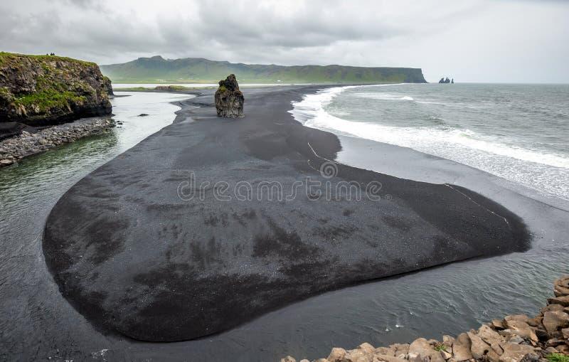 Reynisfjara strand, Island royaltyfria foton