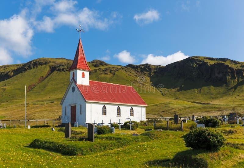 Reyniskirkja Church in Iceland stock image