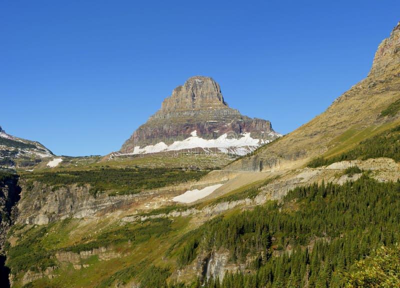 Reynolds Mountain, Glacier National Park. Reynolds Mountain at Logan Pass in Glacier National Park, Montana royalty free stock photography