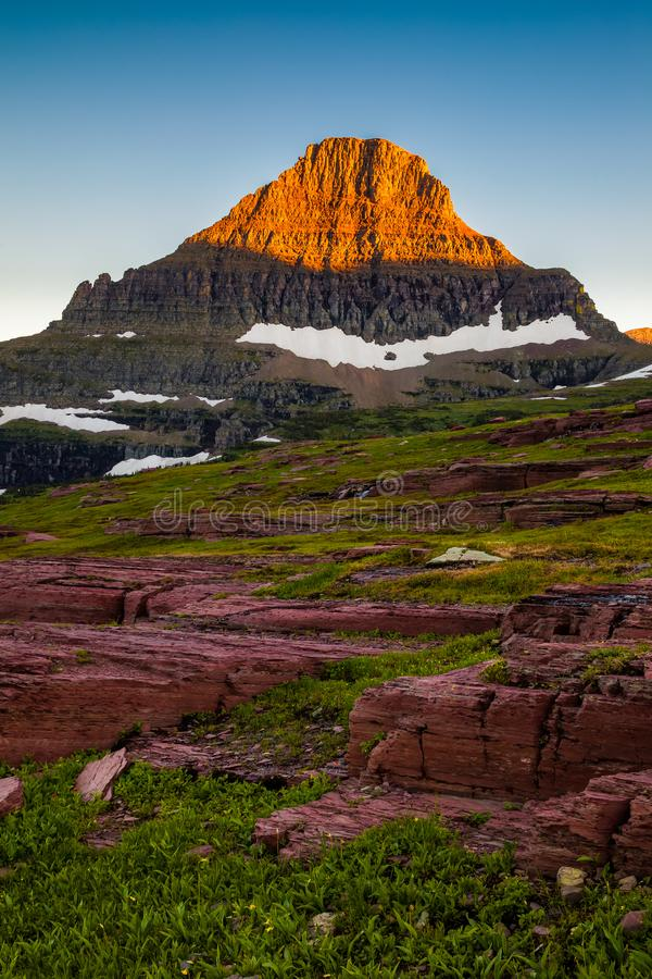 Reynolds Mountain in the Logan Pass area of Glacier National Park, Montana. USA stock photography