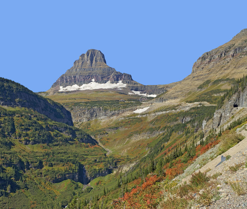 Reynolds Mountain, parc national de glacier photographie stock libre de droits