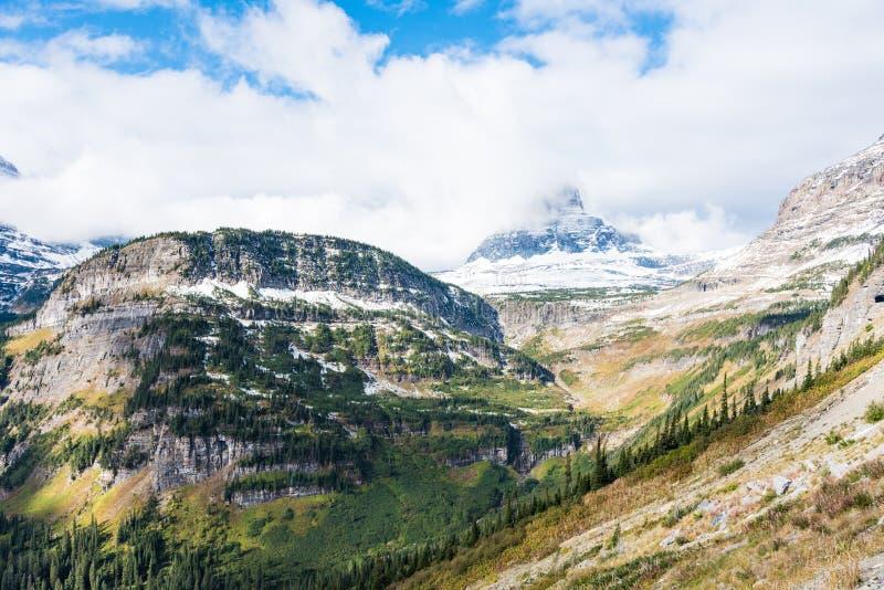 Reynolds Mountain, parque nacional de geleira fotos de stock royalty free