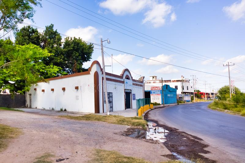 Reynosa, Mexico. Details of Reynosa, Mexico, a rustic town on the US and Mexican border stock image