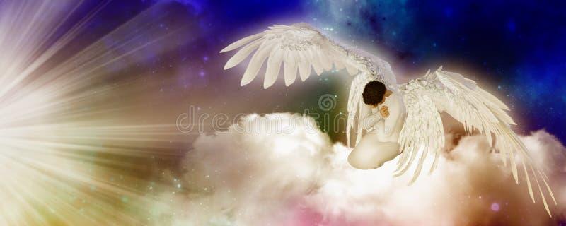 Rezando o anjo ilustração stock