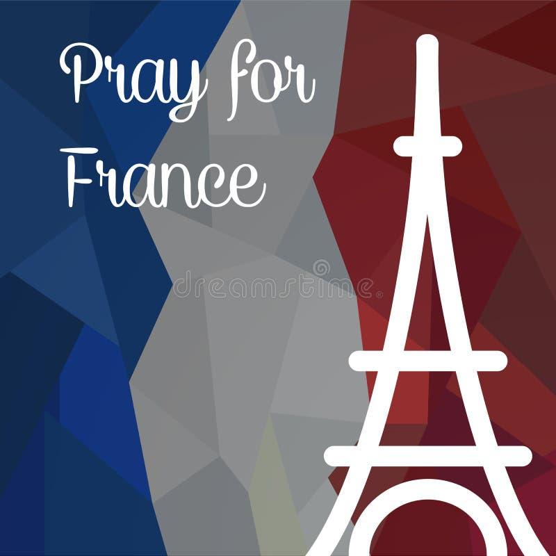 Rezar para França fotos de stock