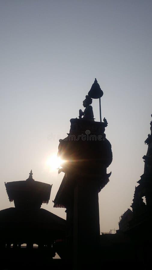 Rezar para Nepal imagens de stock